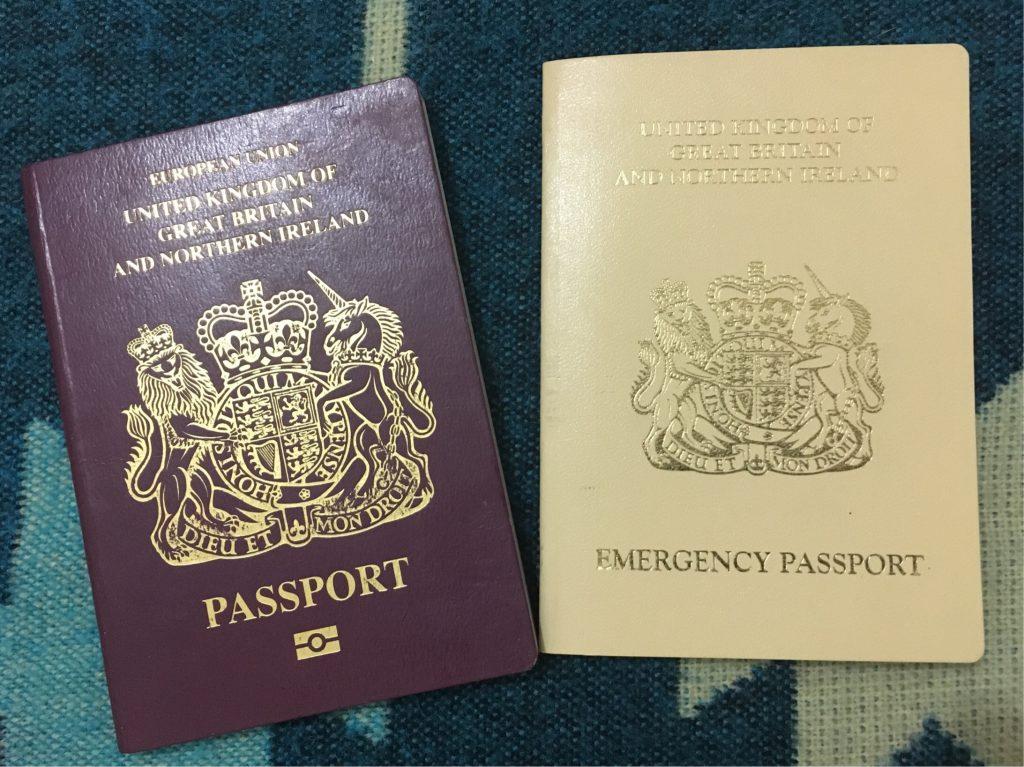 The emergency passport Ben received after having his stolen